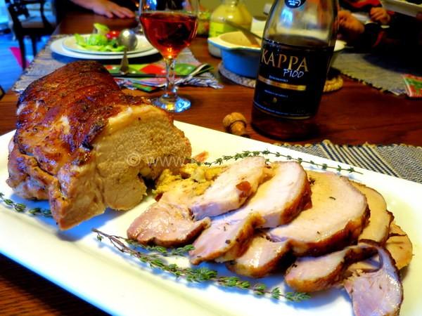 Roast Pork Loin With Apple Stuffing
