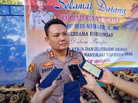 Ketgam : Kapolres Konawe Selatan AKBP Dedy Adrianto,SH