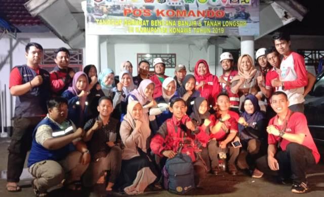 Ketgam: foto bersama gabungan dari 138 orang Palang Merah Indonesia (PMI) Provinsi Sulawesi Tenggara (Sultra).