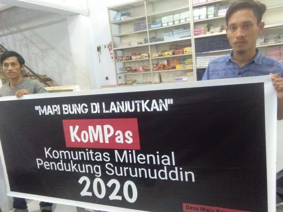 Ketgam: Risal Asnandar SH. Ketua Komunitas Milenial Pendukung Surunuddin (Kompas)
