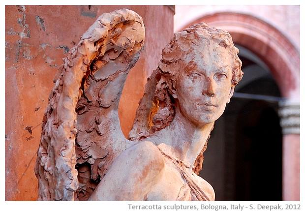 Evolution Of Terracotta Sculptures In Bologna Emilia Region Of Italy