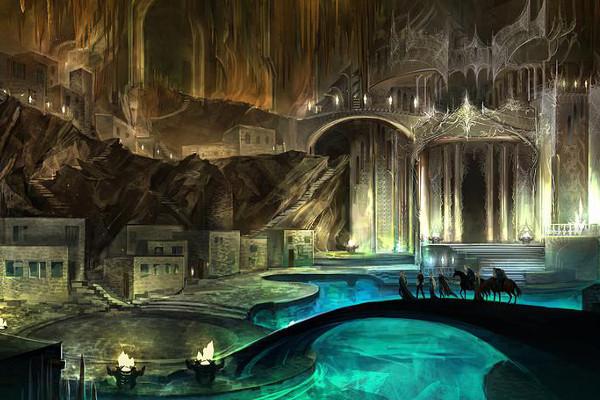 A majestic fantasy island.