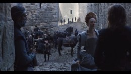 Kal Sabir as The Laird of Ramonry, alongside Saoirse Ronan (Mary) and James McArdle (James Stuart)