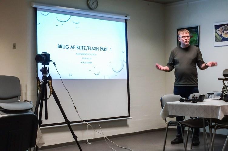 Klaus Larsen fortalte om brug af Flash/Blitz