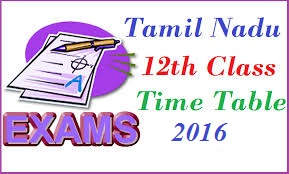 12th exam time table