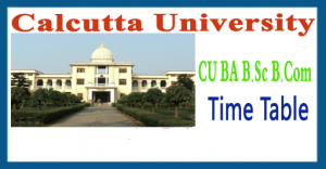 Calcutta University Routine 2018