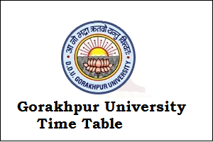 DDU Gorakhpur Time Table 2019