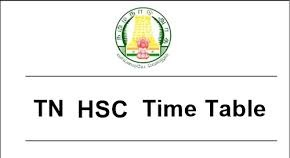 Tamil Nadu HSC Time Table 2019