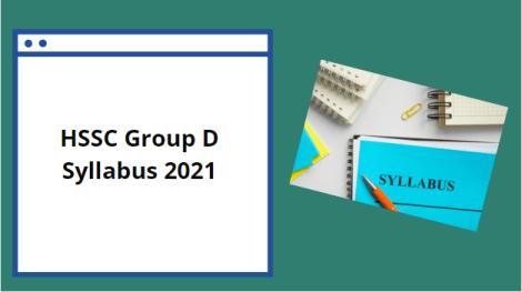 HSSC Group D Syllabus 2021