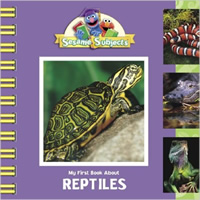 Book cover: My First Book About Reptiles