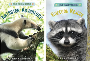 Anteater Adventure and Raccoon Rescue book covers