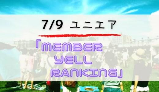 【ユニエア】7/9より日向坂46イベント「MEMBER YELL RANKING」開催