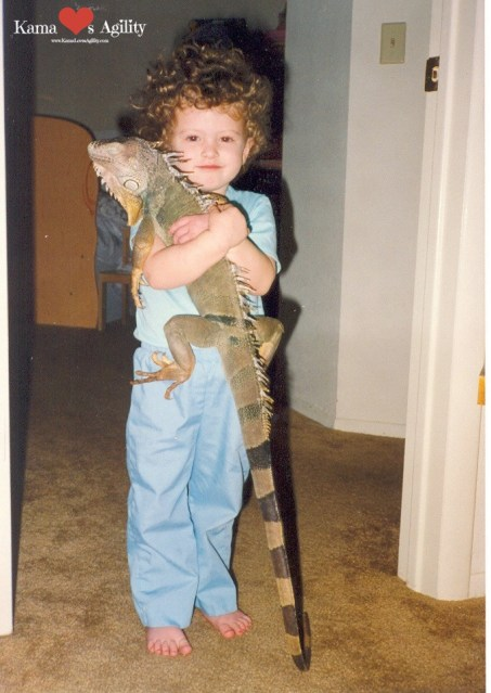 Little me and Iggy.