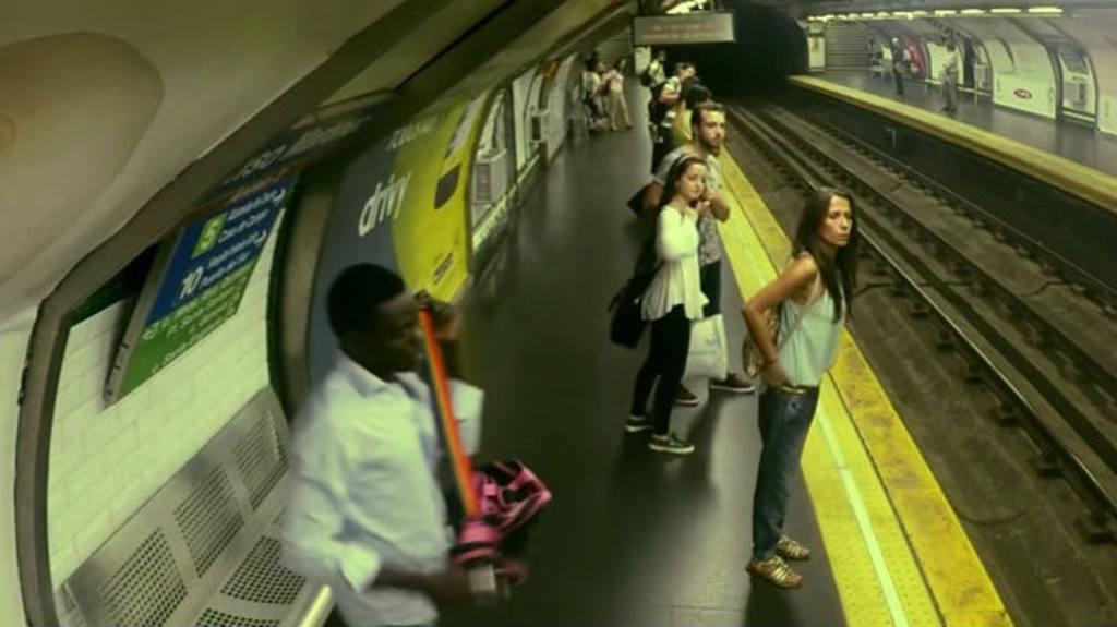 Aparece un tren fantasma en Madrid