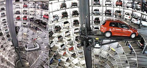 Como funciona un parking robotizado