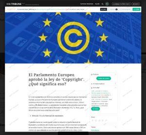 Pantallazo de WikiTribune, el periódico colaborativo de Wikipedia.