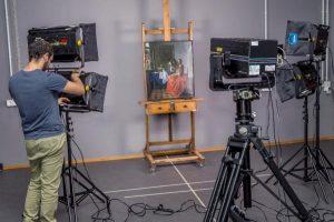 Proceso de fotografiado de las obras de Vermeer/GOOGLE/EFE