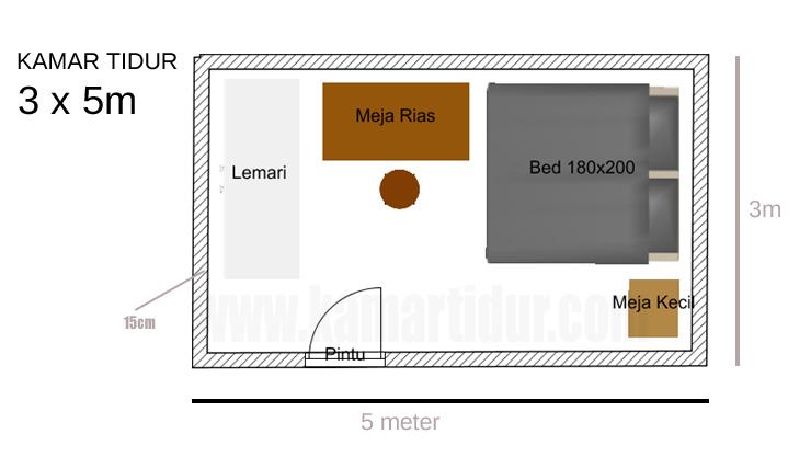 Kamar tidur 3x5m