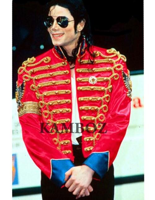 Michael Jackson Red Retro England Military Jacket