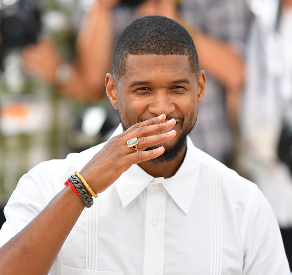 Usher Dazzles In White At Cannes 2016