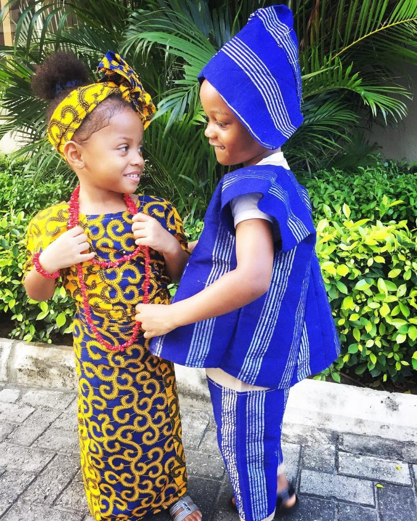 Andre and Aliona (Peter and Paul Okoye's kids)