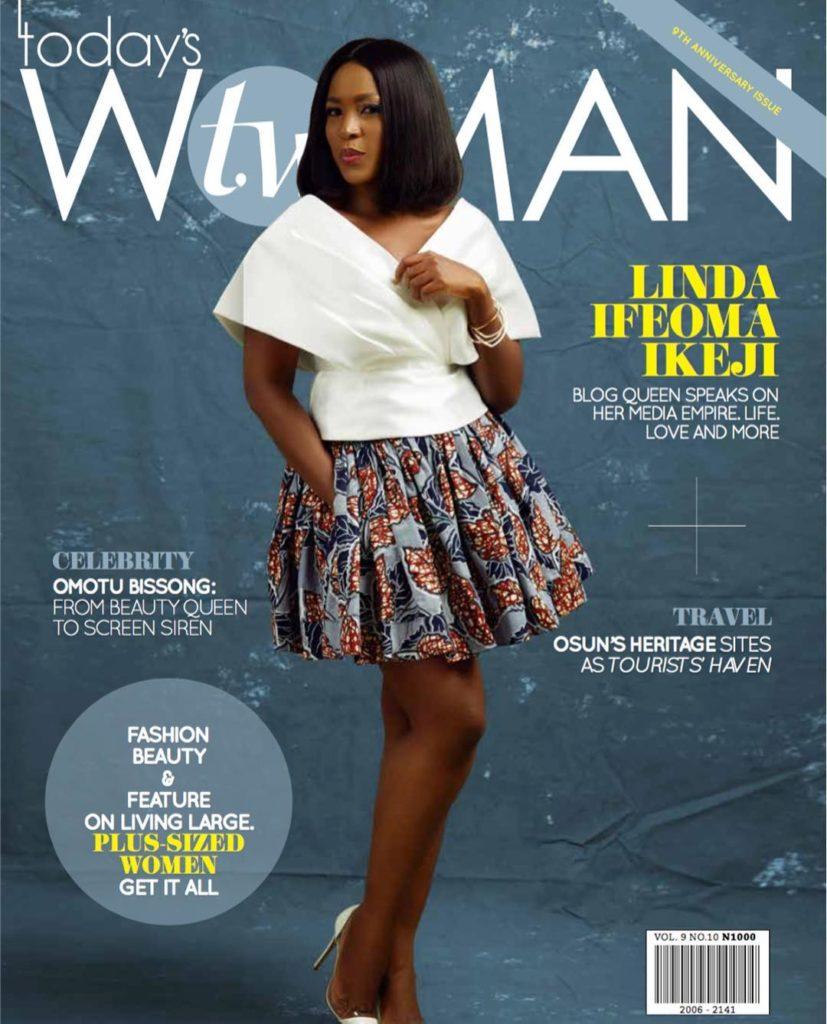 Linda Ikeji: Celebrity Blogger Covers Today's Woman September Issue