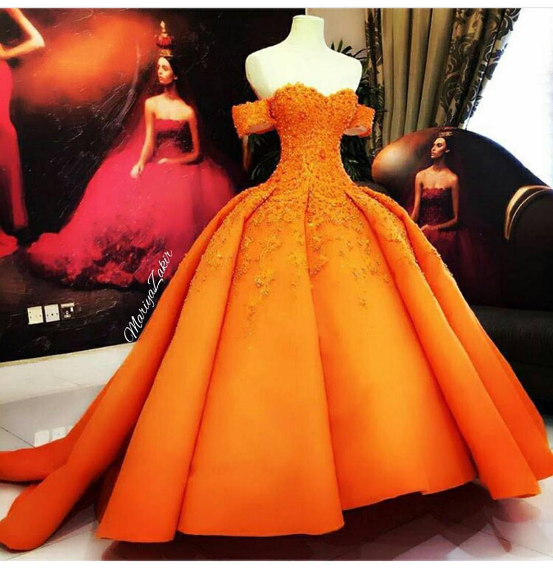 Orange Wedding Dress Anyone?