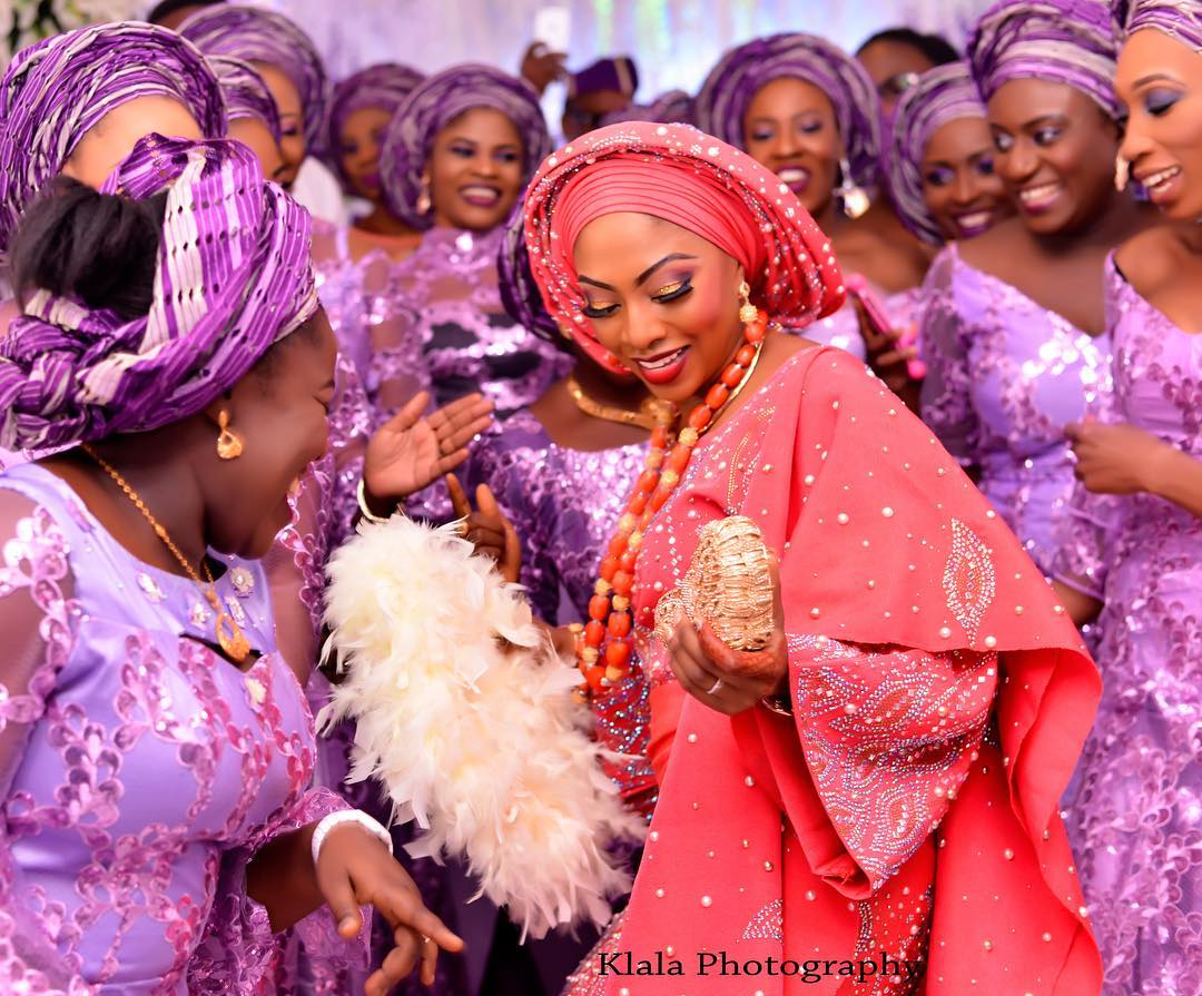 Image result for aso-ebi at a nigerian wedding