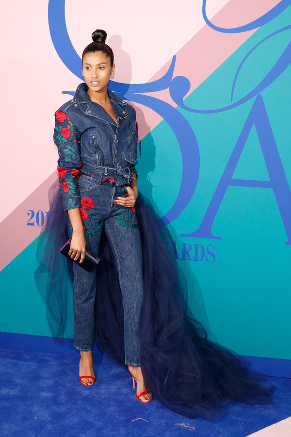 NEW YORK, NY - JUNE 05:  Imaan Hammam attends the 2017 CFDA Fashion Awards at Hammerstein Ballroom on June 5, 2017 in New York City.  (Photo by Taylor Hill/FilmMagic)