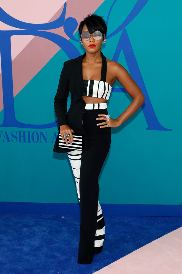 NEW YORK, NY - JUNE 05:  Janelle Monae attends the 2017 CFDA Fashion Awards at Hammerstein Ballroom on June 5, 2017 in New York City.  (Photo by Taylor Hill/FilmMagic)