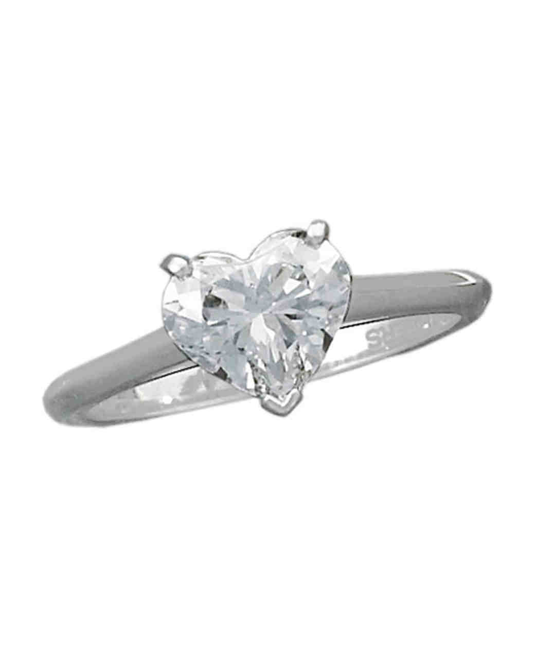 heart cut diamond ring