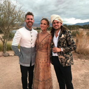 "Instead of white, the ""Glee"" actress went nude (for her dress color, that is) when she tied the knot with Mumford & Sons member Winston Marshall in Morocco in October 2016."