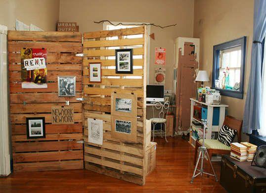 pallets room divider