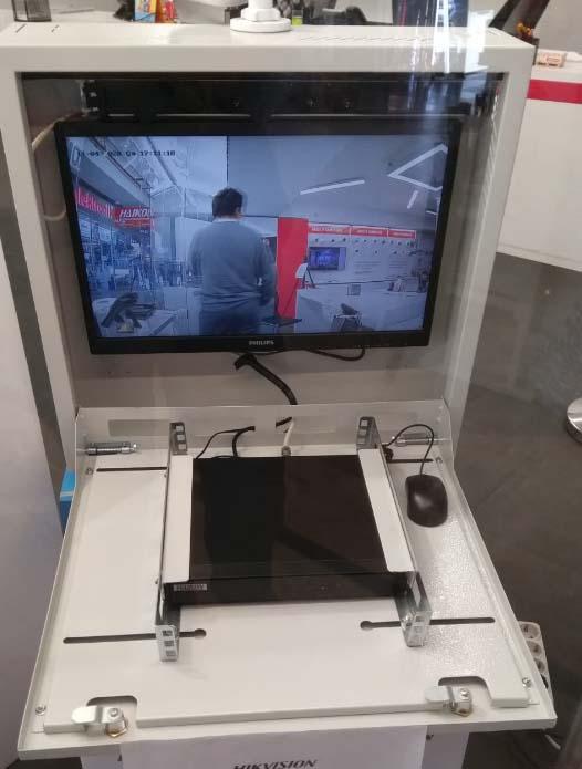 Kamera sistemi kayıt cihazı ve monitör ekran dolabı