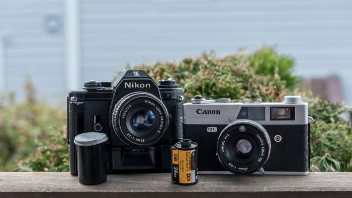 Film-basert Nikon og Canon