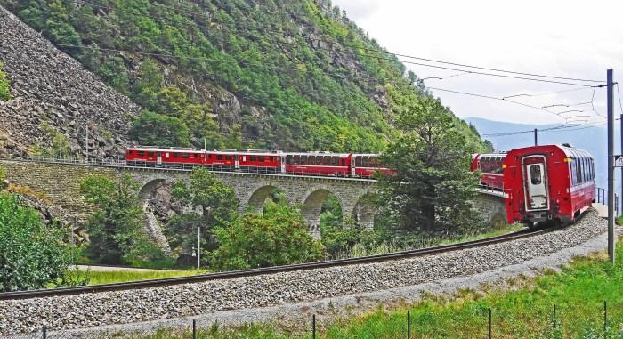 Bernina-jernbanen i Sveits