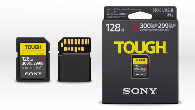 Sony SF-G series TOUGH Specification Cards