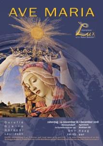 Ave Maria, Kamerkoor Lux, Den Haag, 24 november, 1 december, 2018