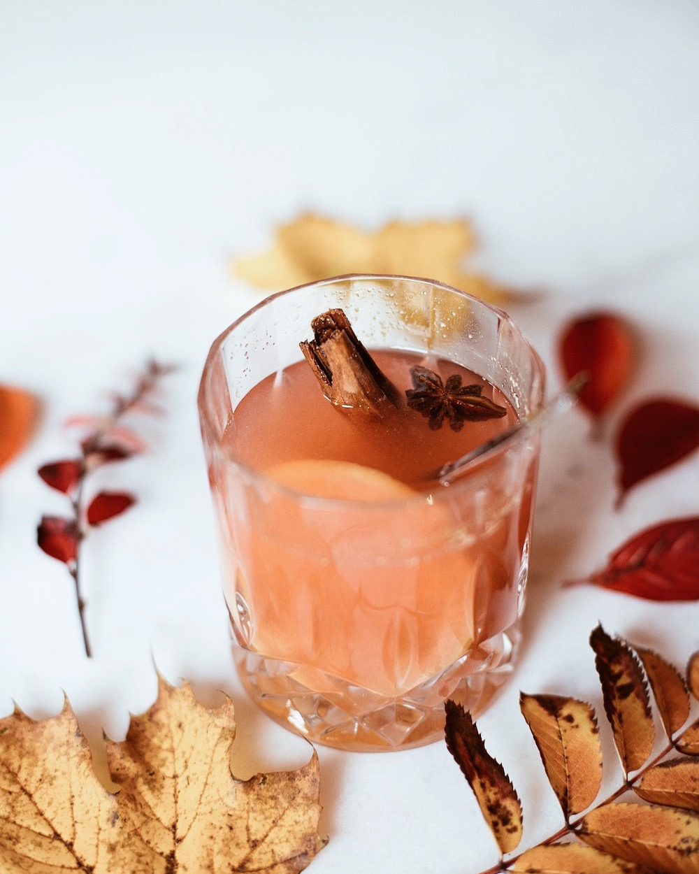 a warm and cozy drink for fall