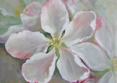 Apple Tree Blossom painting, floral paintings, lillemaalid