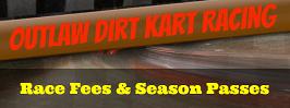 KAM Kartway Race Fees and Season Pass information