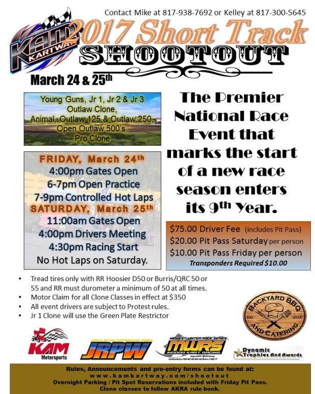 Short Track Shootout flyer