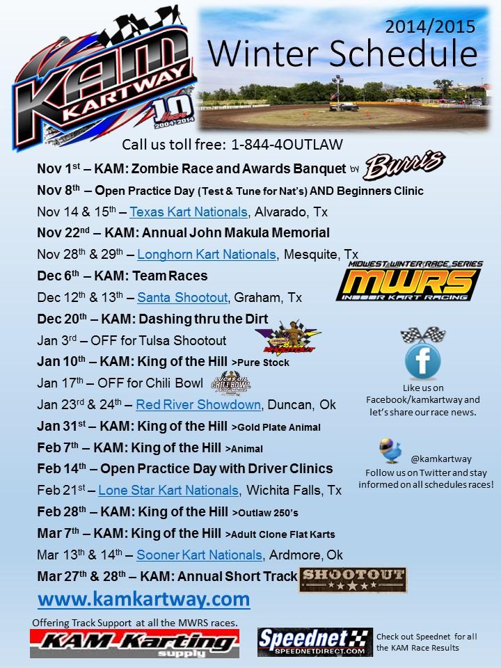 KAM Winter Schedule
