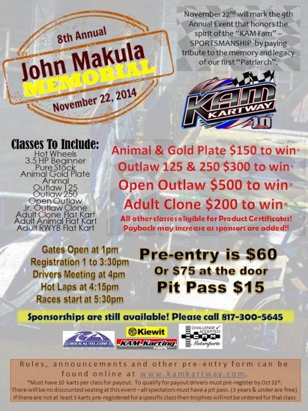 John Makula Memorial Flyer