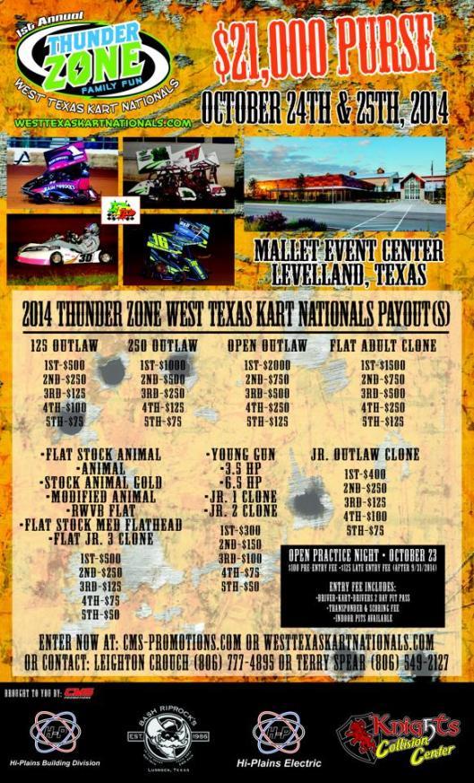 West Texas Kart Nationals Flyer