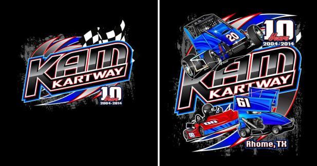 KAM Kartway Track Shirt Design