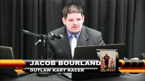 Jacob Bourland on the Checkered Flag Show