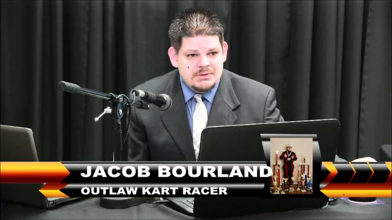 Jacob Bourland on the Checkered Flag Show