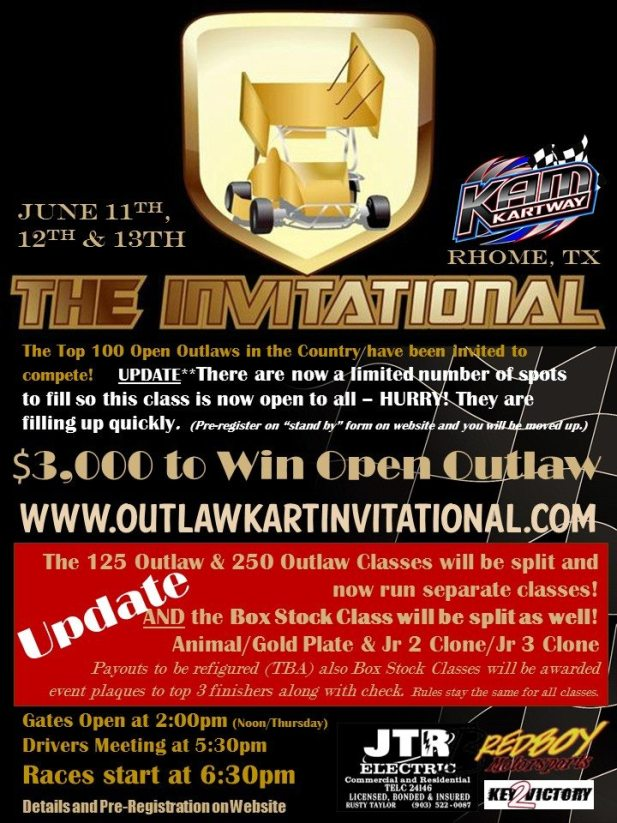 The Invitational event flyer