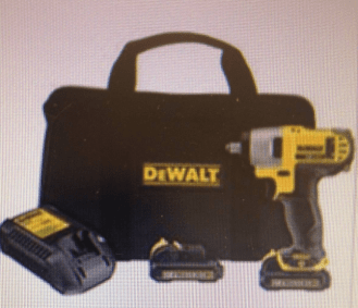 DeWALT Power Drill prize from AutoZone